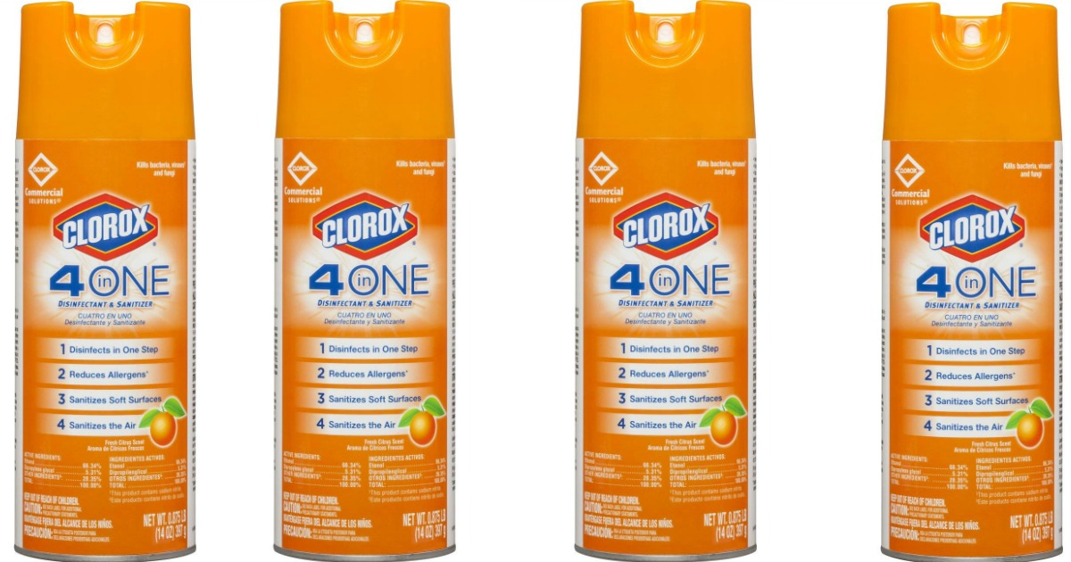 clorox 4 in one disinfectant spray