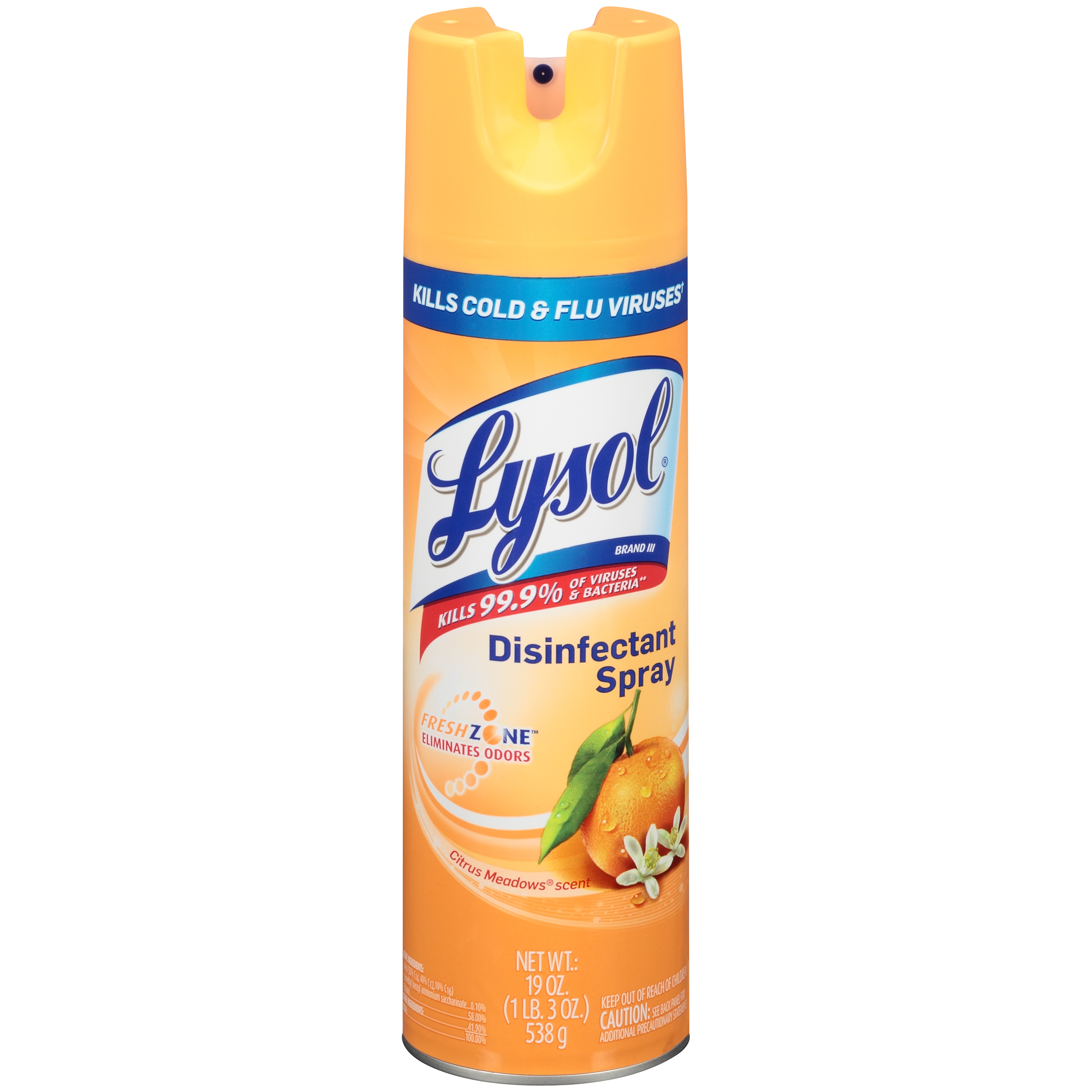 lysol disinfectant spray citrus meadows 81546