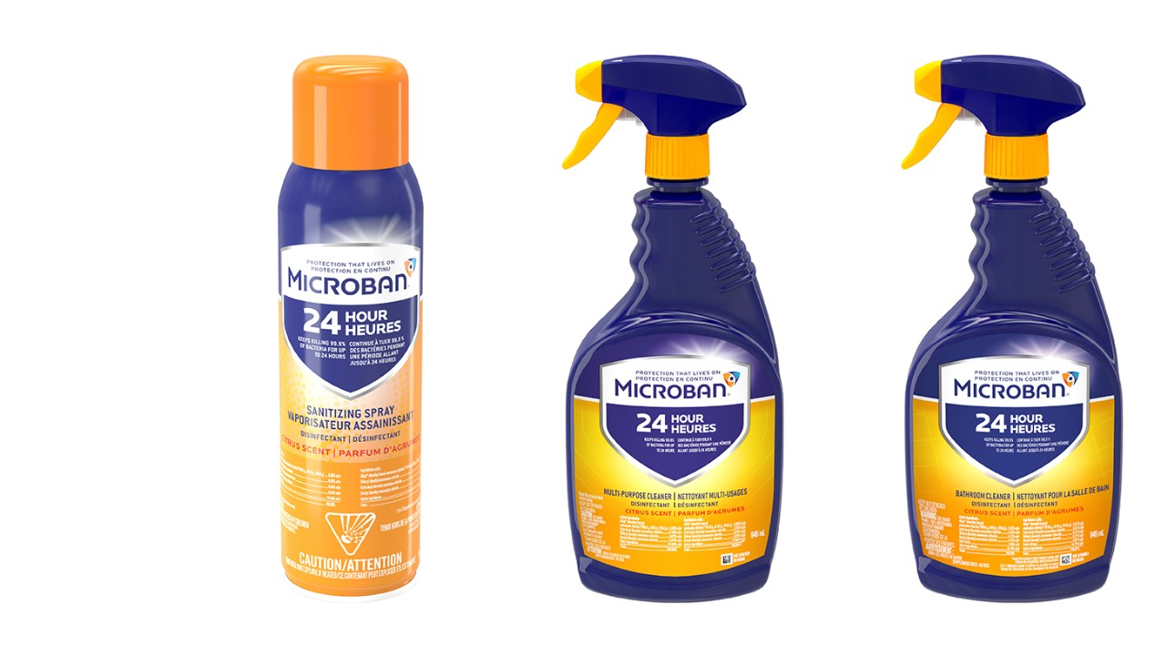 microban 24 hour disinfectant spray