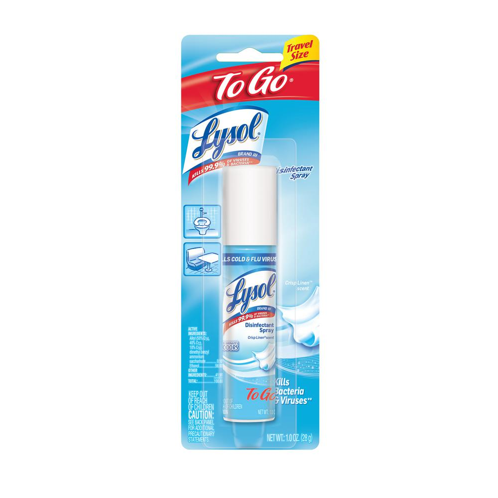 travel size lysol spray